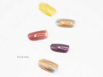 ウェアネイル(WEAR NAIL.)/秋色マーブルネイル¥8800