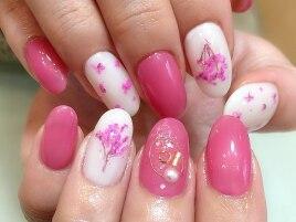 ピンク押し花