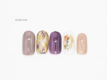 ウェアネイル(WEAR NAIL.)/ベイクドカラーマーブル¥9350