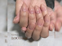 カルフール ロコ ネイル 草加西口店(Carrefour LOCO nail)/ナチュラルグラデ/お客様写真