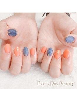 エブリディビューティー 吉祥寺店(Every Day Beauty)/夏カラー!オレンジにデニム色☆
