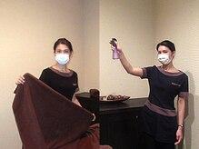 お客様毎の室内除菌とリネン交換