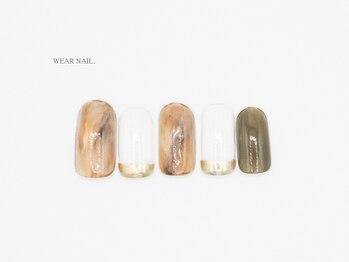 ウェアネイル(WEAR NAIL.)/カフェラテカラーマーブル¥8800