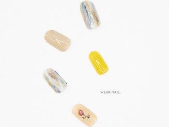 ウェアネイル(WEAR NAIL.)/レトロフラワーアート¥8800