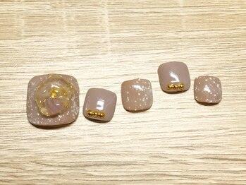 ネイルサロンアンドスクール ミュー(Nail Salon & school mieux)/《FOOTの季節♪》天然石ネイル