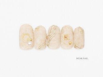 ウェアネイル(WEAR NAIL.)/ゴールドリングネイル¥7700