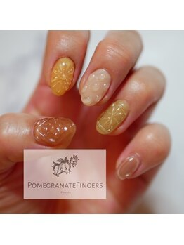 ポミグラニットフィンガーズ(Pomegranate Fingers)/しぶめドロップネイル
