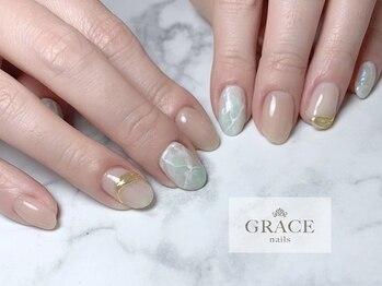 グレース ネイルズ(GRACE nails)/大理石ネイル