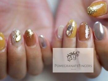 ポミグラニットフィンガーズ(Pomegranate Fingers)/きらきらニュアンスネイル