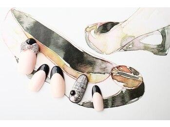 ルーヴル ネイルアンドアイラッシュ 生駒(LOUVRE nail&eyelash)/ツイードキルティング