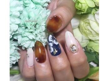 ベルネイル(belle nail)/甘辛ミックス☆べっ甲も今風に☆