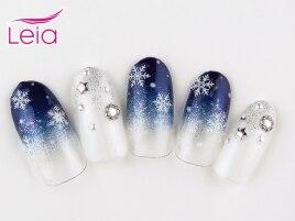 【¥6990】雪の結晶ネイル