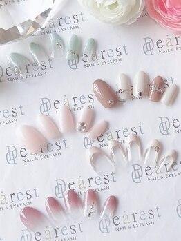 ネイルアンドアイラッシュ ディアレスト(nail&eyelash Dearest)の写真/気分のあがるキレイな指先へ♪【定額¥6600~】爪を削らず負担も少ないパラジェルを使用!丁寧なケアでモチ◎