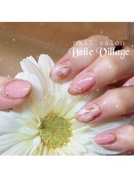 ネイルサロン ベルヴィラージュ(Belle Village)/白べっ甲&ミラーネイル