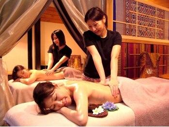 タイリラクゼーションスペース プラスセフィーレ(Thai Relaxation Space +CEFLE)の写真/【ペア割☆トロける全身アロママッサージ60分2人¥11400♪】同室施術OK!!浜松最大級サロンで癒しデート★