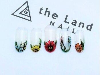 ザ ランド ネイル(the Land Nail)/フラワーフレンチ △浅井