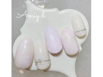アミーディ ネイル(Amiy.d Nail)/【定額】8800円☆和柄ネイル