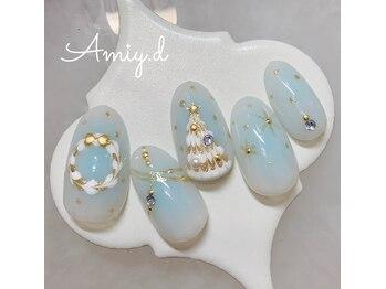 アミーディ ネイル(Amiy.d Nail)/【定額】8800円☆クリスマス