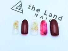 ザ ランド ネイル(the Land Nail)/ワインレッドとゴールド △浅井
