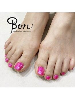 ネイルアトリエ ボン(nail atelier bon)/シェラックネイル☆フットネイル