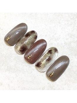 ライト ネイルズ ニシノミヤ(light nails NISHINOMIYA)/秋キャンペーンネイル☆¥7700円