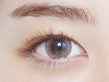 アイル 大通店(eyell)の写真/【カラーエクステで好印象な目元に♪】人気ブラウンカラーから好印象になるポイントカラーまでご用意!