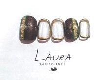 ローラポンポニー(Laura pomponnee)/ブラウン×ゴールド