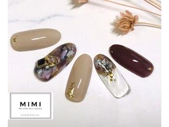 ミミ(MIMI)/キラキラ大理石ネイル