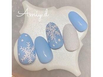 アミーディ ネイル(Amiy.d Nail)/【定額】8800円☆雪の結晶