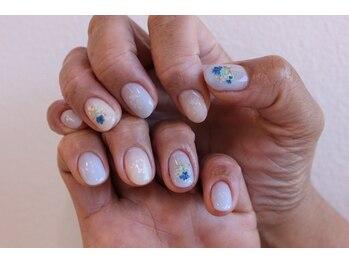 ブルー花束Nail