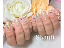 シャンティ ネイルサロン(Shanti nail salon)/押し花ニュアンスネイル♪