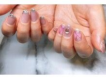 ネイルサロンブラン(nail salon BLANC)/アシンメトリーなピンクネイル