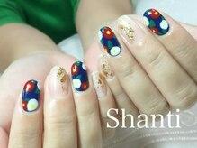 シャンティ ネイルサロン(Shanti nail salon)/シンプル和柄クリアネイル!