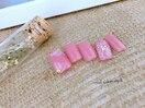 ☆ピンク×フラワーネイル☆
