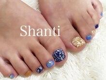 シャンティ ネイルサロン(Shanti nail salon)/ペイズリー柄!春夏フットネイル