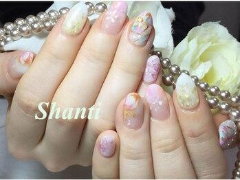 シャンティ ネイルサロン(Shanti nail salon)/春夏手描きフラワーネイル♪