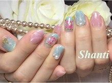 シャンティ ネイルサロン(Shanti nail salon)/春夏天然石風ネイル☆