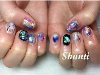 シャンティ ネイルサロン(Shanti nail salon)/夏個性派天然石ニュアンスネイル