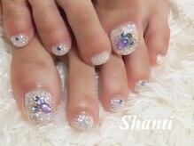 シャンティ ネイルサロン(Shanti nail salon)/キラキラフットネイル☆