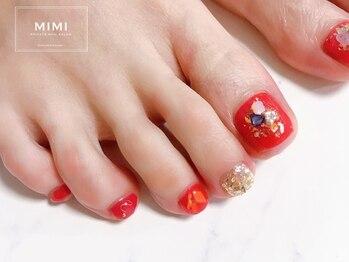 ミミ(MIMI)/フットネイル 赤 レッド