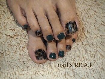 ネイルズリアル(nail's REAL)/もふもふレオパード