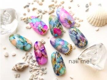 ネイルミー(nail me!)/特殊な材料を使った天然石ネイル