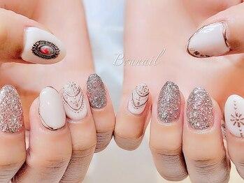 ボネール(nail & eyelash Bounail)/アシンメトリー 左右非対称