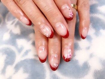 ネイルサロン シュアリィ(Surely)/桜フレンチネイル