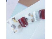 ネイルスペース ヴィタリテ(nail space Vitalite')/9月フットジェルネイル¥6900