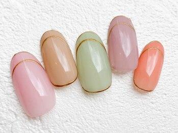 リーチェ ビューティアンドネイルサロン 大名店(Beauty&Nail Salon)/春色hand