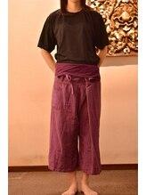 ルアンルアン ヘルスアンドビューティーモール Echika池袋店/お着換えはタイパンツとTシャツ