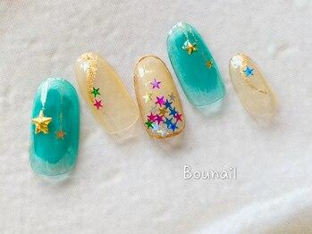ボネール(nail & eyelash Bounail)/クリスマス ニュアンスネイル
