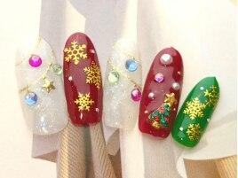 クリスマス/雪の結晶/冬ネイル