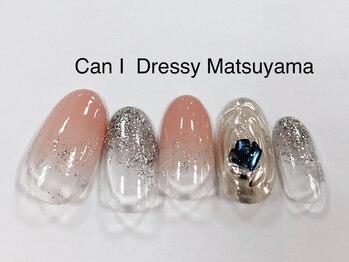 キャンアイドレッシー 松山大街道店(Can I Dressy)/メタリックネイル 4980円